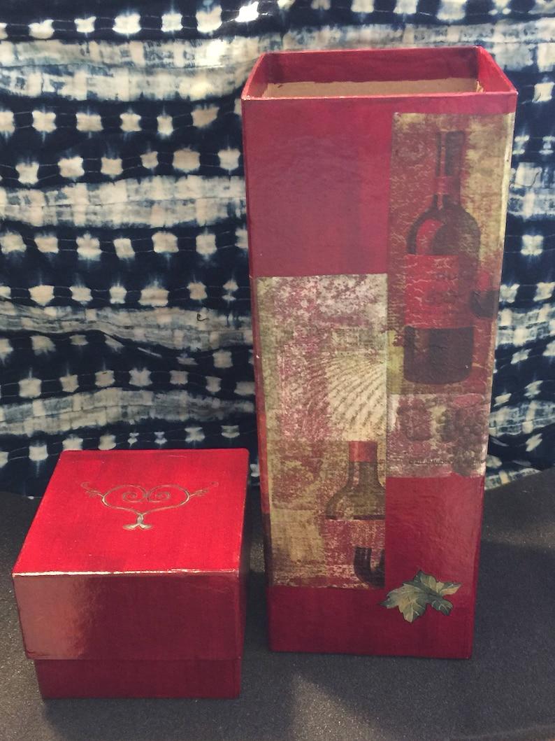 Wine Box Wrap Gift OOAK