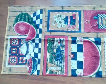 Almost 3 yds cheater quilt panel fabric Springs Ind. Summer in the Country