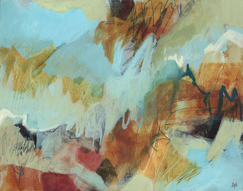 Original abstract painting Valley image 0