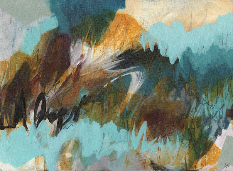 Original abstract painting Dusk image 0