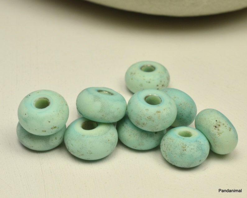 Bleached Copper Green Little Rounds  Made To Order  MTO  image 0