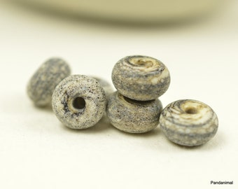 Marbled Ivory Little Rounds - Made To Order - MTO - Rustic - Aged - Bone like - Beads - Bead Set - Lampwork Beads - SRA