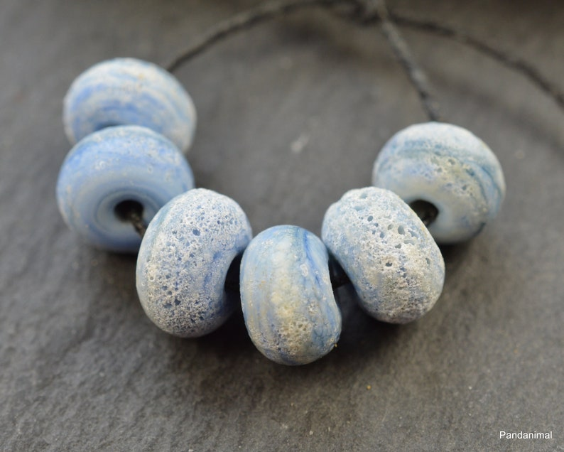 Marbled Denim  Made To Order  MTO  Rustic  Aged  Beads  image 0