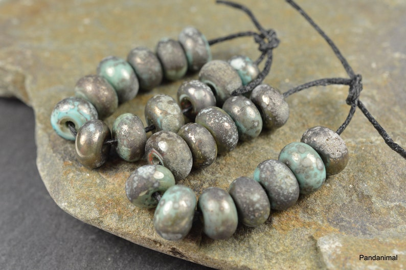 Copper Green Little Rounds  Made To Order  MTO  Verdigris image 0