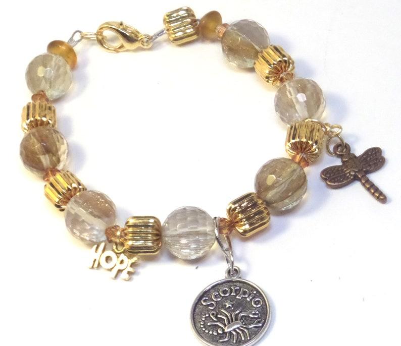 Birthday Gifts  Zodiac bracelet  Scorpio Bracelet  November image 0