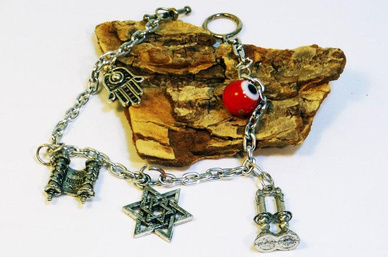 Shabbat Bracelet  Jewish Jewelry  Jewish bracelet  Hanukkah image 0