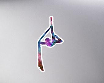 Aerial Stars Silks 3 - Galaxy Aerialist Cosmic Circus Sticker
