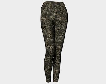 53436d12712044 Baroque Bronze Yoga Leggings