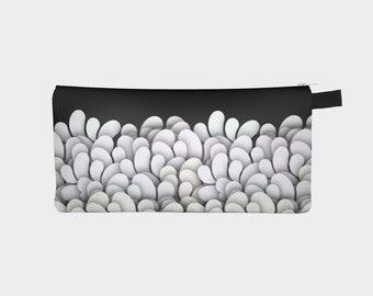 Black and White - Petals Pencil Case