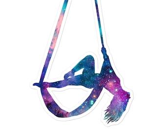 Aerial Stars Silks 2 - Galaxy Silks Cosmic Circus Hammock Sticker