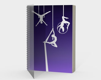 Aerial Ombre Spiral Notebook Amethyst