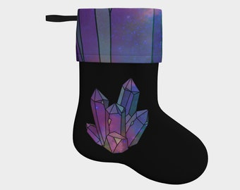 Cosmic Crystals Stocking - Galaxy, Nebula, Witchy Yule, Christmas Gifts