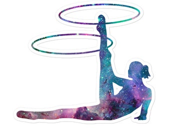 Galaxy Hula Hoops 3 - Flow Arts Cosmic Stars Circus Sticker