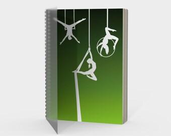 Aerial Ombre Spiral Notebook Moss Green
