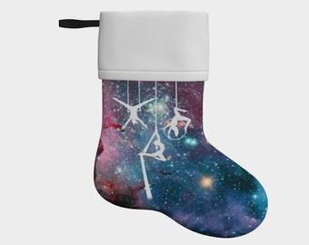 Cosmic Stars Jewel Tone Stocking - Galaxy, Nebula, Aerial Silks, Aerial Sling, Circus