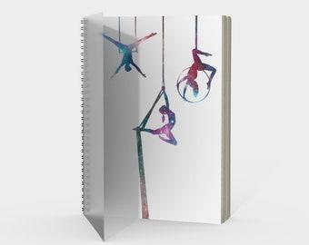 Aerial Stars Spiral Notebook White