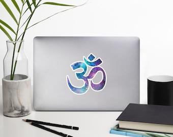 Cosmic OM Bubble-free stickers - Galaxy, Nebula, Stars, Meditate, Yoga