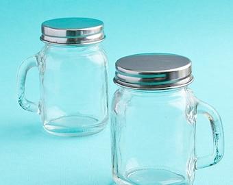 Mini Glass Mason Jar with Handle