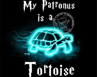 Tortoise Patronus art print - 8x10 ready to frame