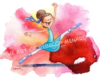 Happy Dancer - 8x10 - art print