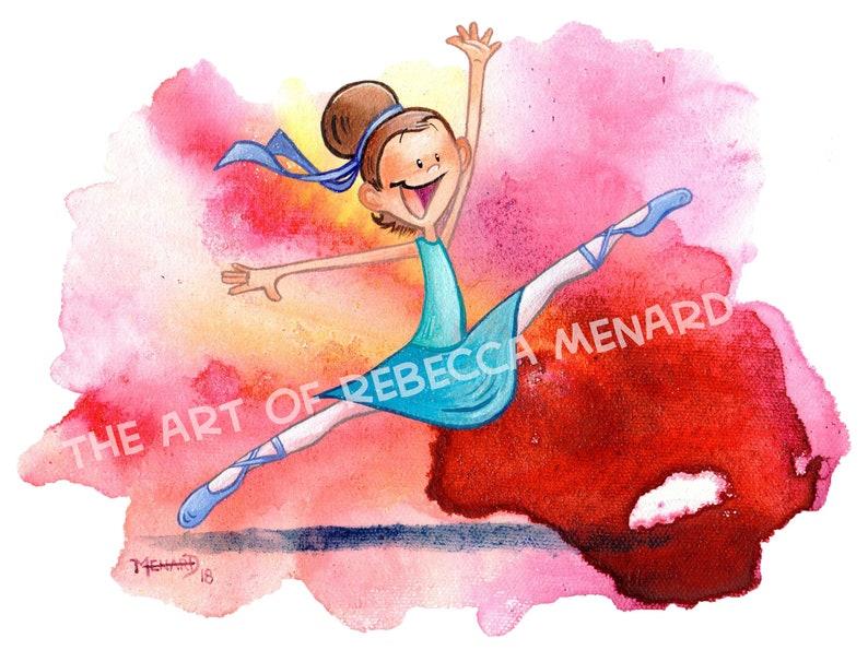 Happy Dancer  8x10  art print image 0