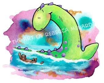 Nessie and Friends -8x10-art print