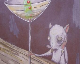 Dirty Dirty Martini - City Rats - Original Illustration - Digital Print