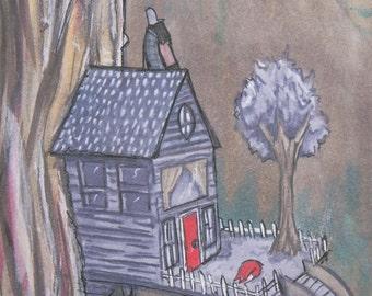 Tree House - Digital Print of Original Illustration