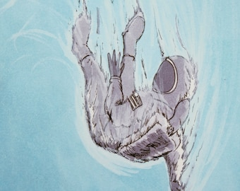 De-Entry - Space Death - Original Illustration - Digital Print