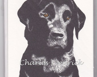 Black Lab Note Cards With Brown Eyes