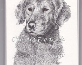 Golden Retriever Note Cards With Brown Eyes