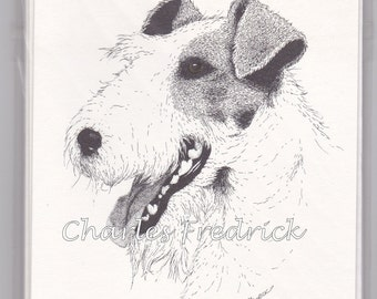 Wire Fox Terrier Note Cards With Brown Eyes