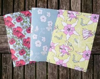 Pack of 3 Handmade A6 Notebooks - Set 5