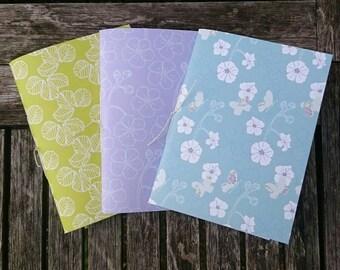 Pack of 3 Handmade A6 Notebooks - Set 2