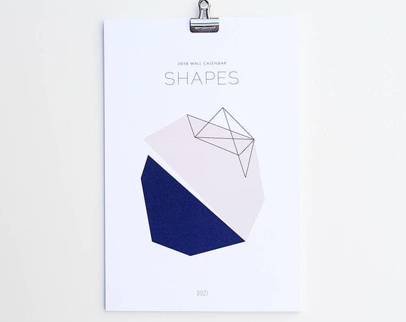 2019 Wall Calendar - Shapes
