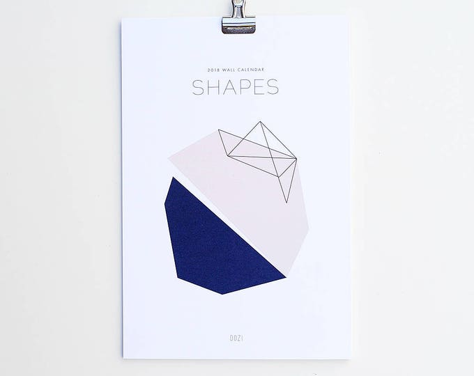 2018 Wall Calendar - SHAPES