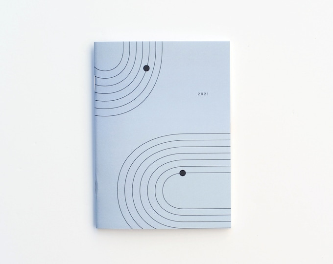 2021 Small Monthly Planner - Blue
