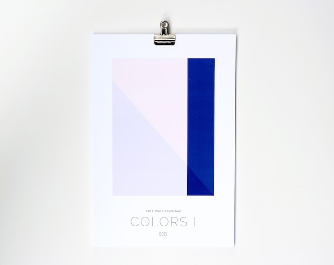 2019 Wall Calendar - Colors I