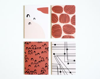 Blank Notecards Set of 4 - JOURNEY | Art Cards | Thank You Cards