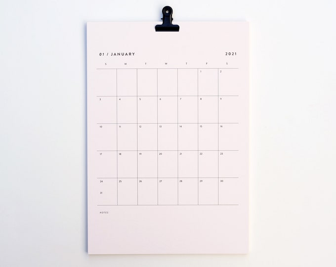 2021 Calendar - GRID pink