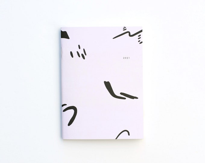 2021 Small Monthly Planner - Brush
