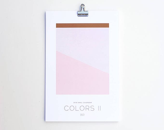 2019 Wall Calendar - Colors II