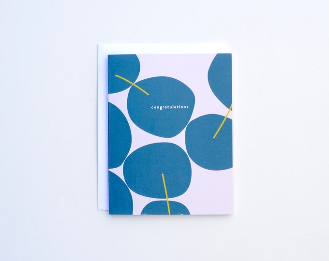 Congratulations Card - Blue Stones