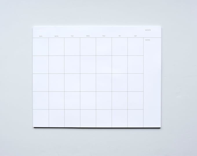 Monthly Planner Notepad