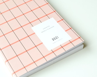 Undated Weekly Planner - Berry Plaid