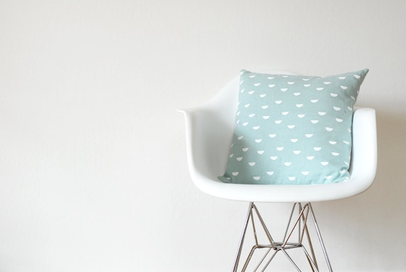 Pillow Cover - SCALES white / blue | Cushion Cover