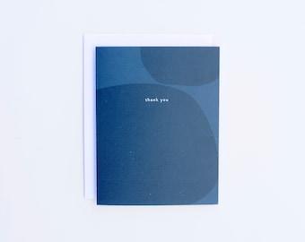 Thank You Card - Blue