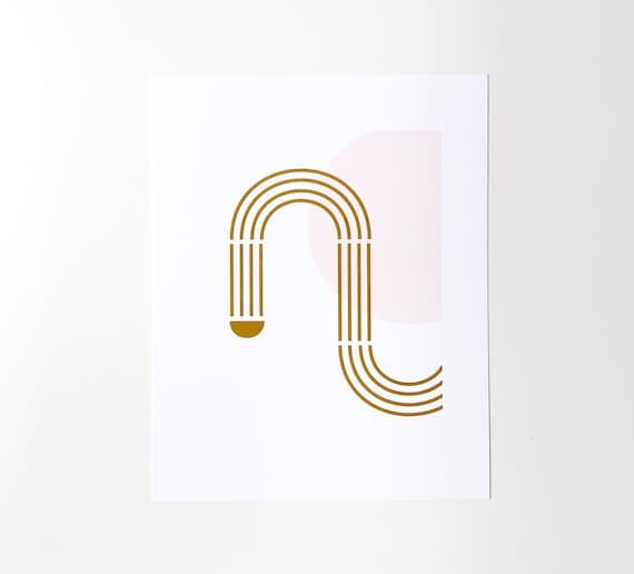 Path Art Print - 8x10