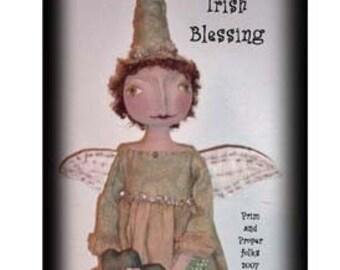 Primitive Folk Art Irish Blessings Angel Doll ePattern