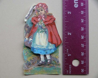 Vintage 3-D Art--Mother Goose Series 7--Little Red Riding Hood   PD4U